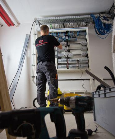 Elektroinstallation Verteilerkasten
